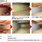 基礎コンクリート補強工事 タックダイン アラミド繊維