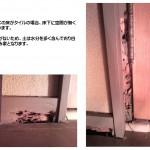 白蟻の被害 WCドア枠