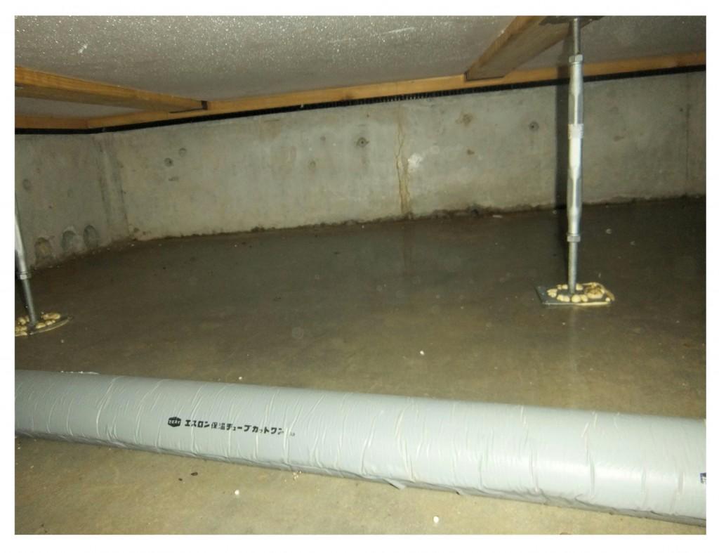 床下結露 ベタ基礎濡れ