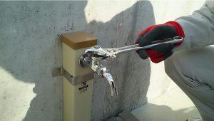 既設水栓取外し