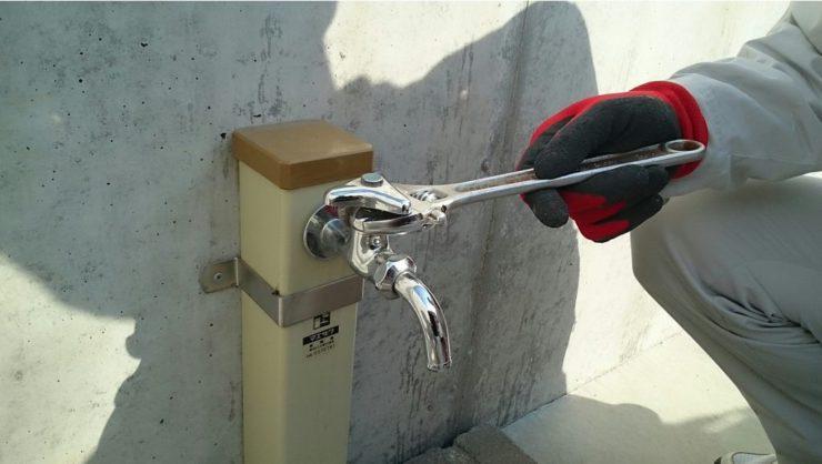 ガーデン水栓交換工事