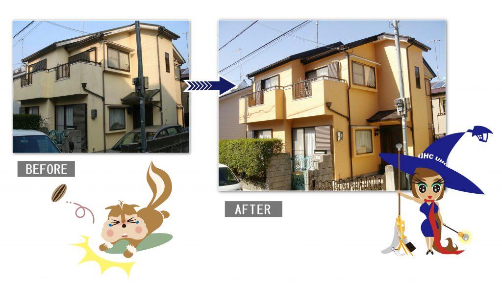 外壁塗装工事2-before-after