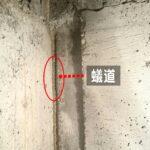 シロアリ蟻道 基礎コンクリート