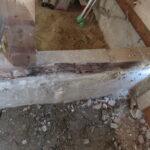 シロアリの被害 浴室土台